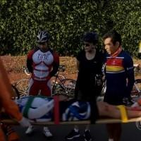 Dilma ajuda a socorrer ciclista acidentado